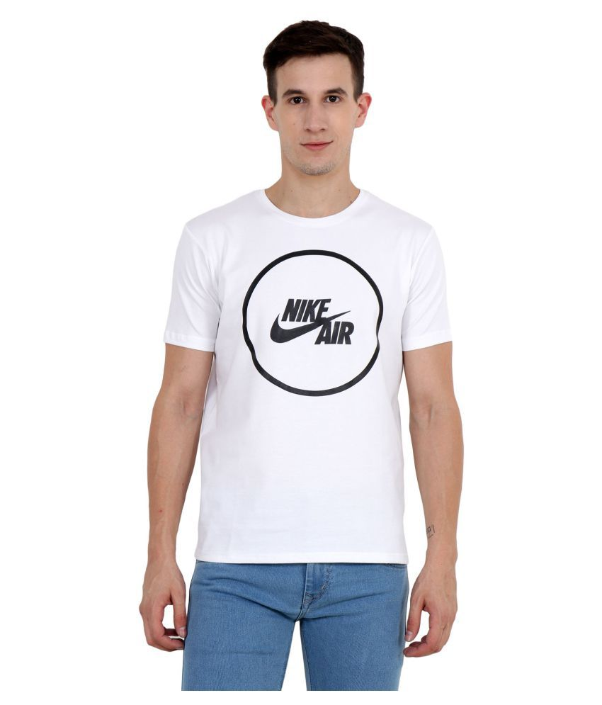 ba75ac437 Nike White Cotton T-Shirt - Buy Nike White Cotton T-Shirt Online at Low  Price in India - Snapdeal