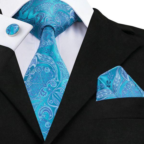 Kamalife Blue Paisley Silk Necktie