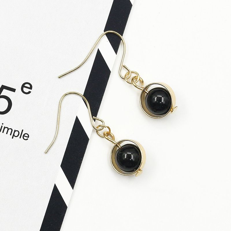 Levaso Fashion Jewelry Womens Earrings Ear Studs Alloy 1Pair Personality Gifts Black