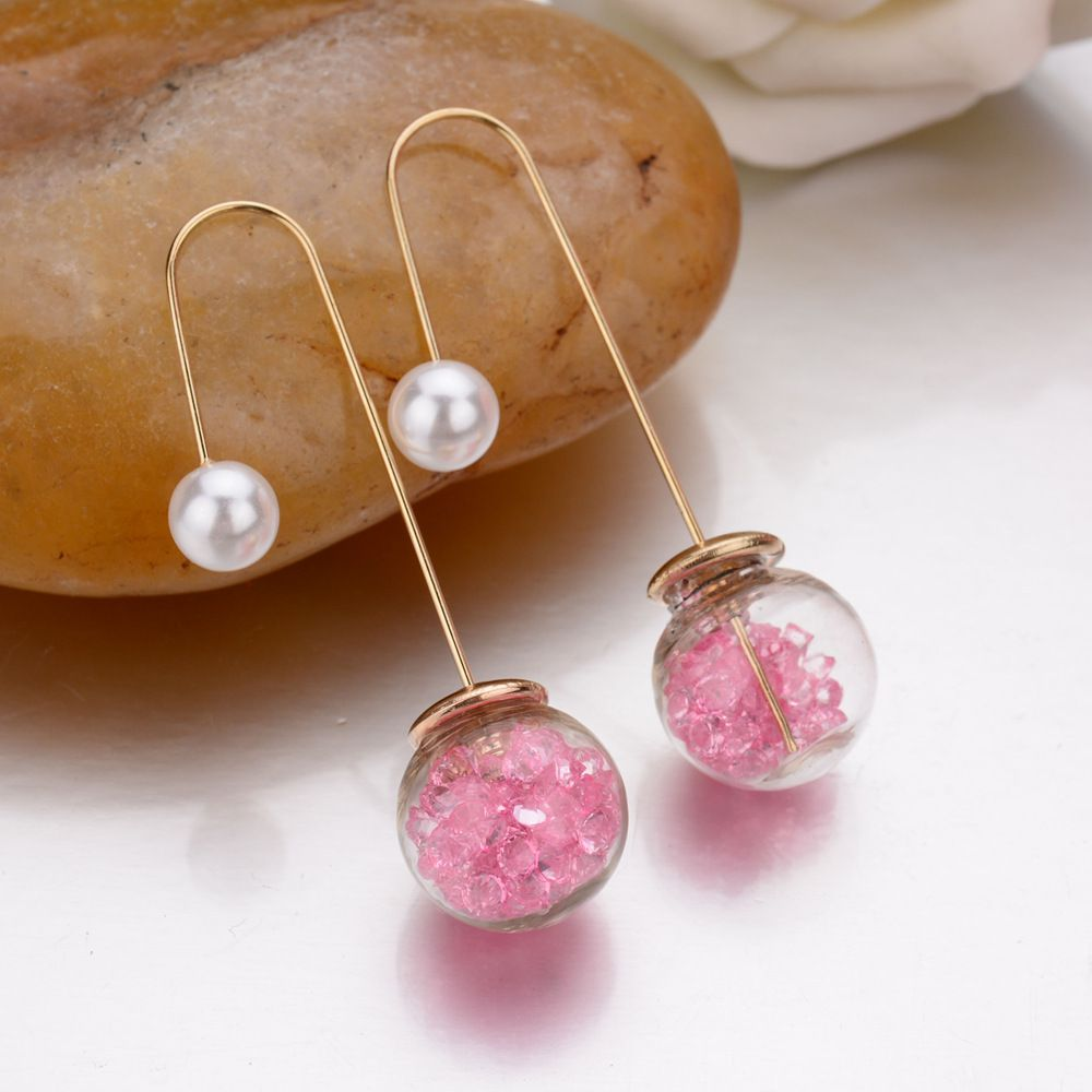 Levaso Fashion Jewelry Womens Earrings Ear Studs Alloy 1Pair Personality Gifts Pink
