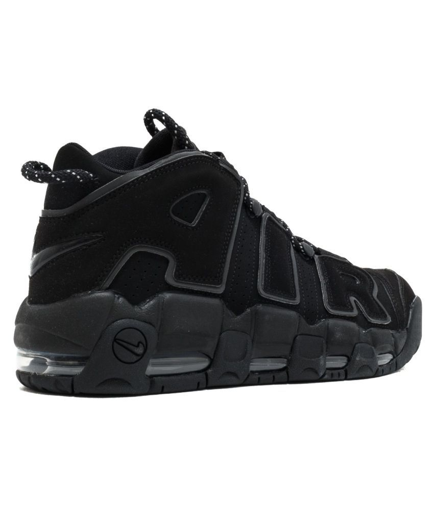 e81b80833b Nike AIR MORE UPTEMPO Black Basketball Shoes - Buy Nike AIR MORE UPTEMPO  Black Basketball Shoes Online at Best Prices in India on Snapdeal