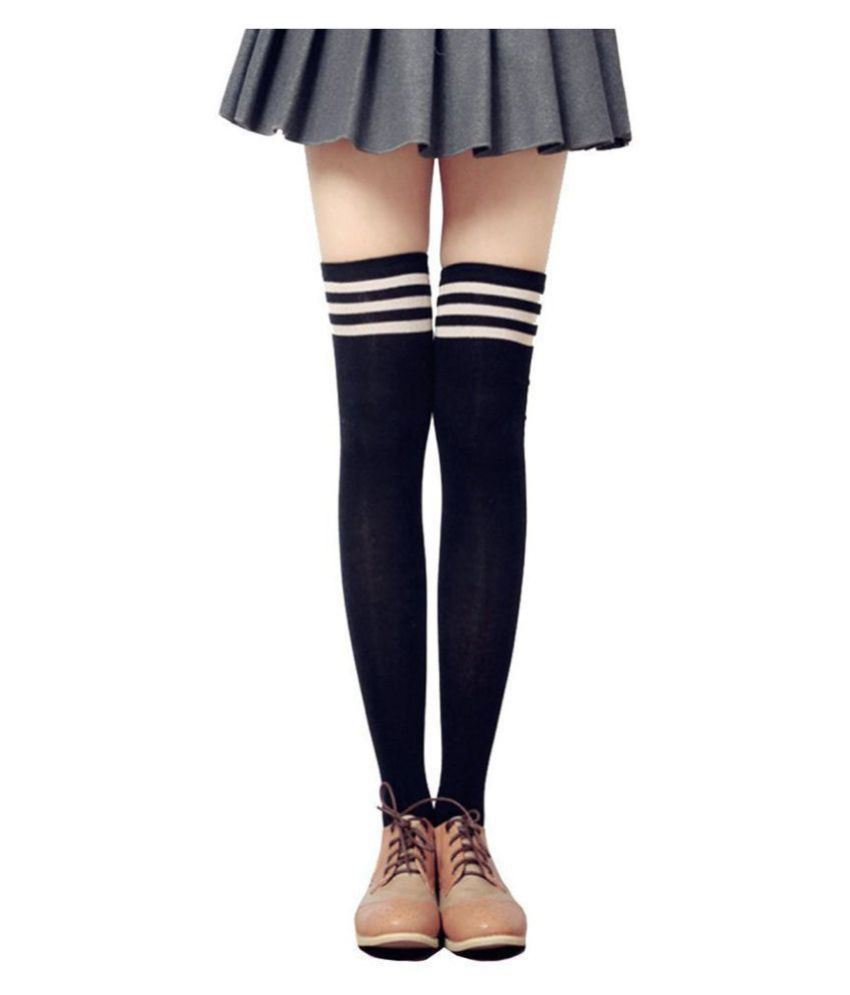 f95ddca00b29c ... Xs and Os Women Over the Knee Thigh High Stockings Cosplay Socks