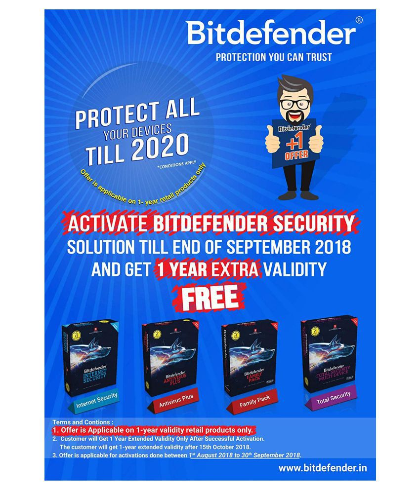 BitDefender Total Security Latest Version (Windows / Mac / Android / iOS) (  10 PC / 1 Year ) - Activation Code-Email Delivery