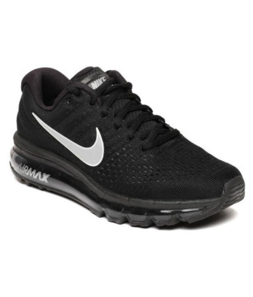 6e20f6768a Nike Air Max 2017 Black Womens Running Shoes Price in India- Buy ...
