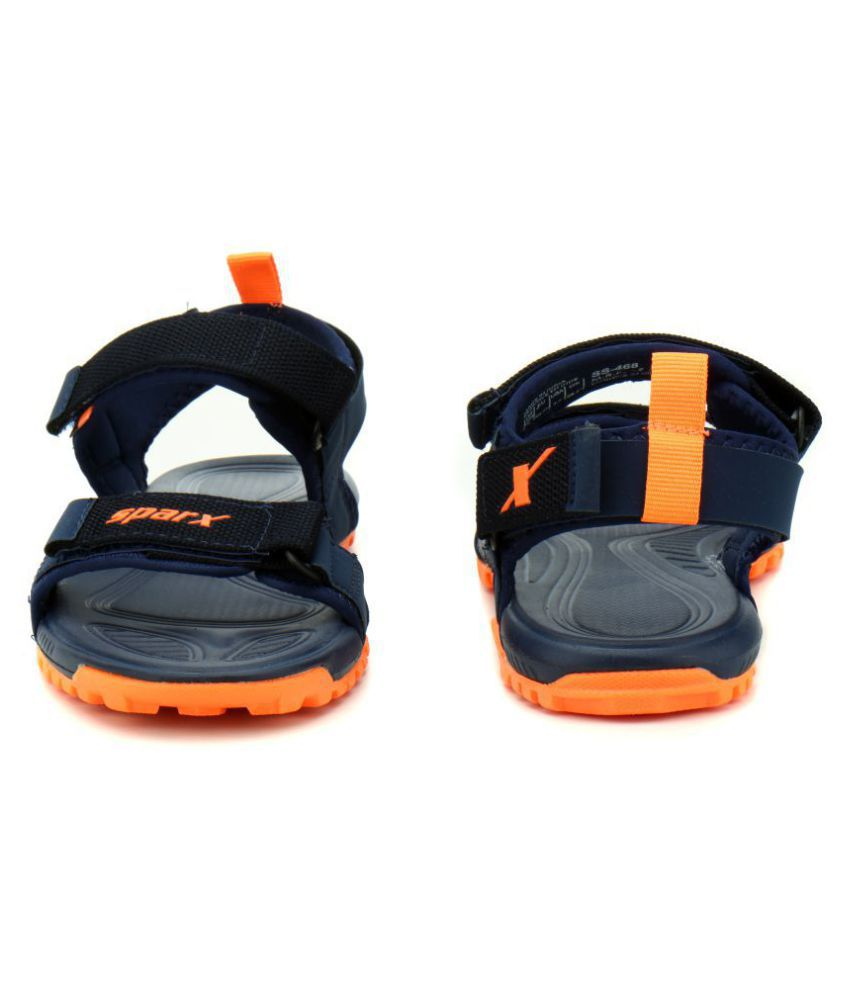 4b83490ed7056 Sparx SM-468 Navy Synthetic Leather Sandals Price in India- Buy ...