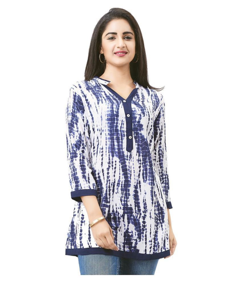 7388b80b700 Aarnaa Rayon Tunics - Blue - Buy Aarnaa Rayon Tunics - Blue Online at Best  Prices in India on Snapdeal
