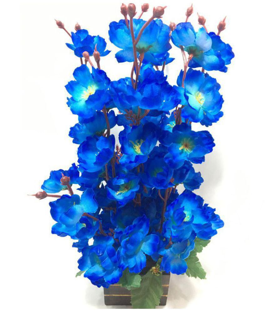 badshah craftsvilla orchids blue flowers with pot pack of 1 buy