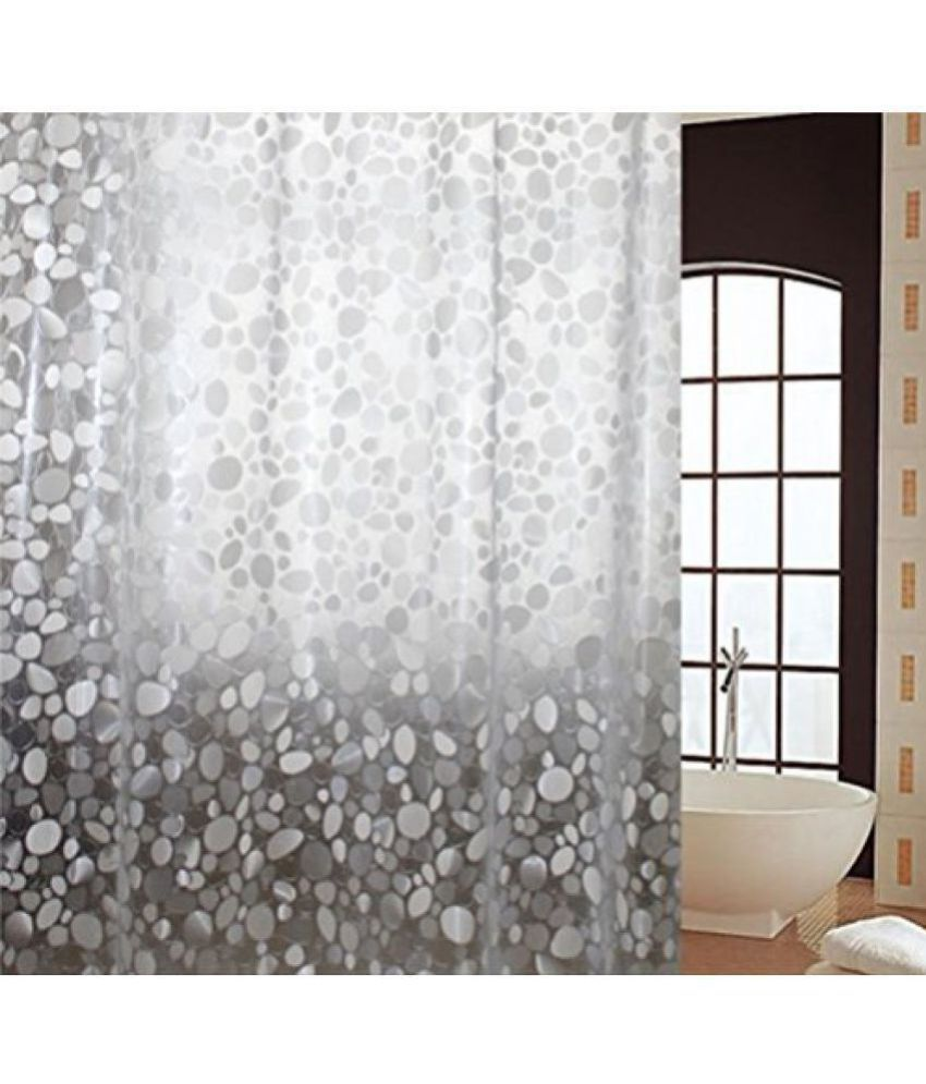 Khushi Creations Single Shower Curtain Gray Others