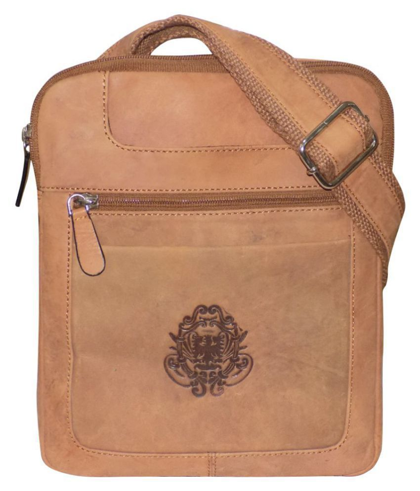 Style 98 Stylish Brown Leather Office Messenger Bag