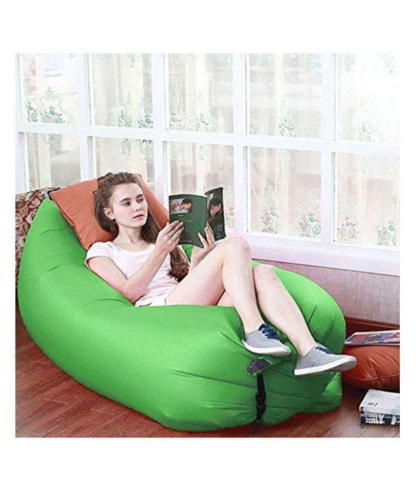 Tick Tock Camping Inflatable & Portable Sleeping Air Bag/ Sofa (Green)
