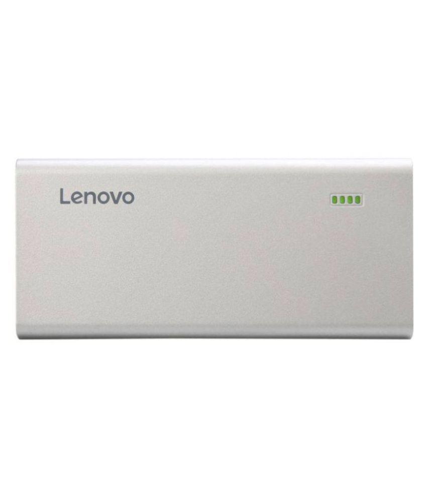 Lenovo PA10400 10400  mAh Li Ion Power Bank Silver