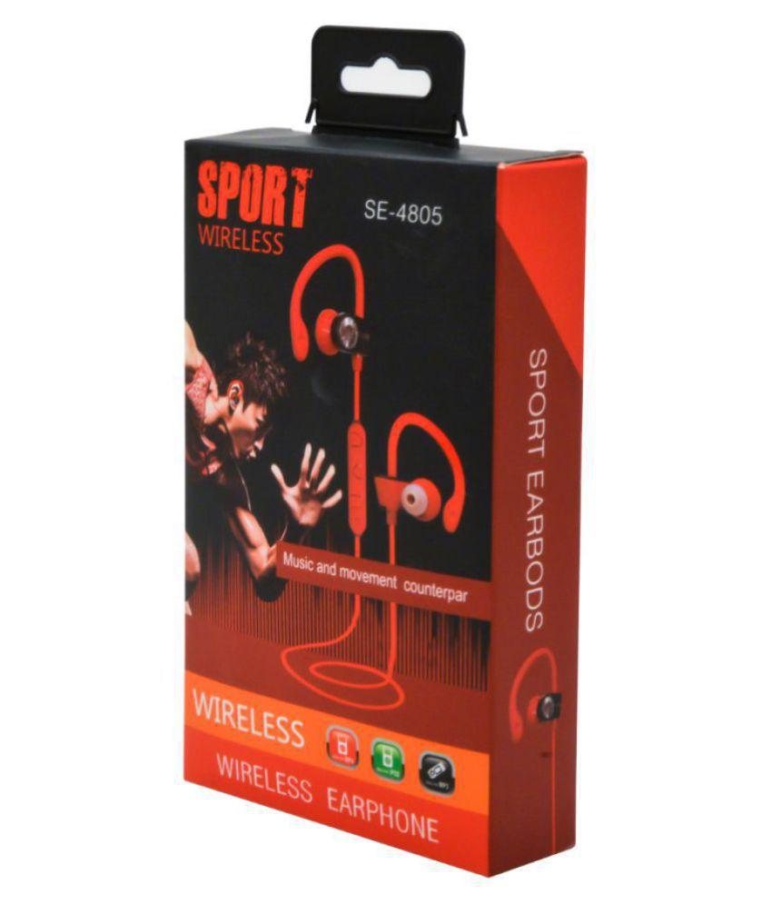 Spantech SE-4805 Sport Wireless Earphone Wireless Bluetooth Headphone Black