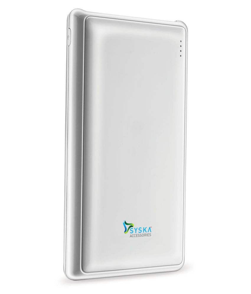 Syska Power Pro 200 20000  mAh Li Polymer Power Bank White