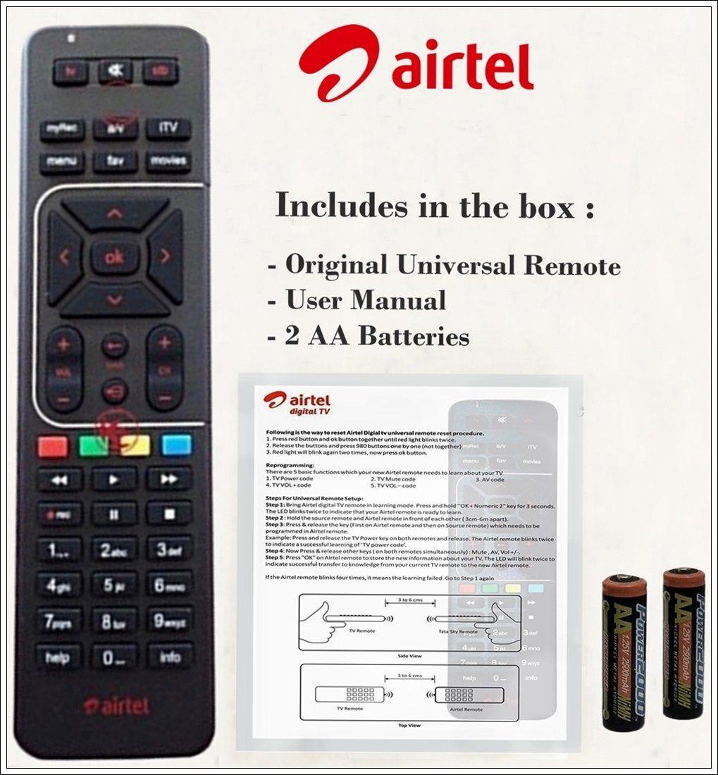 Trek Inc  Original DTH Remote Compatible with Airtel Setop Box