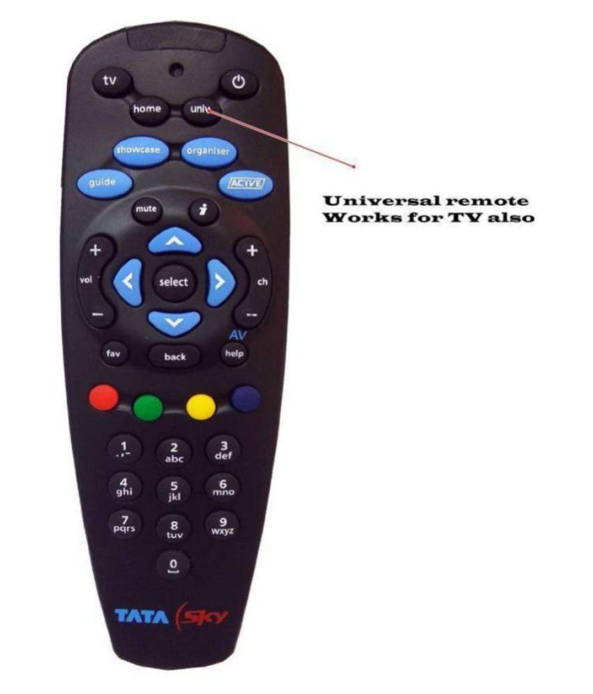 Trek Inc. Tata Sky Genuine Universal (Works with TV Also) DTH Remote Compatible with Tata Sky SD&HD Box