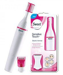 Kanha Sweet Sensitive Touch Eyebrows Underarms Electric Trimmer For Women ( White )