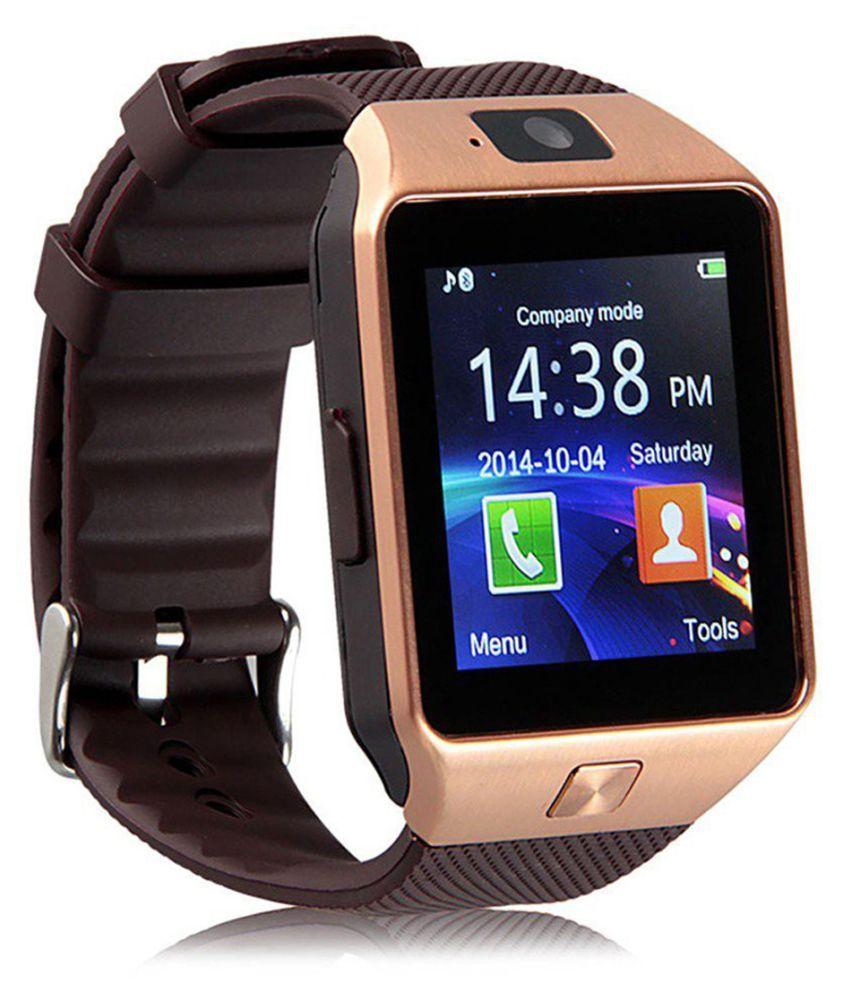 WDS Dz09 Smartwatch Suited Intex Aqua i6 - Black Smart Watches