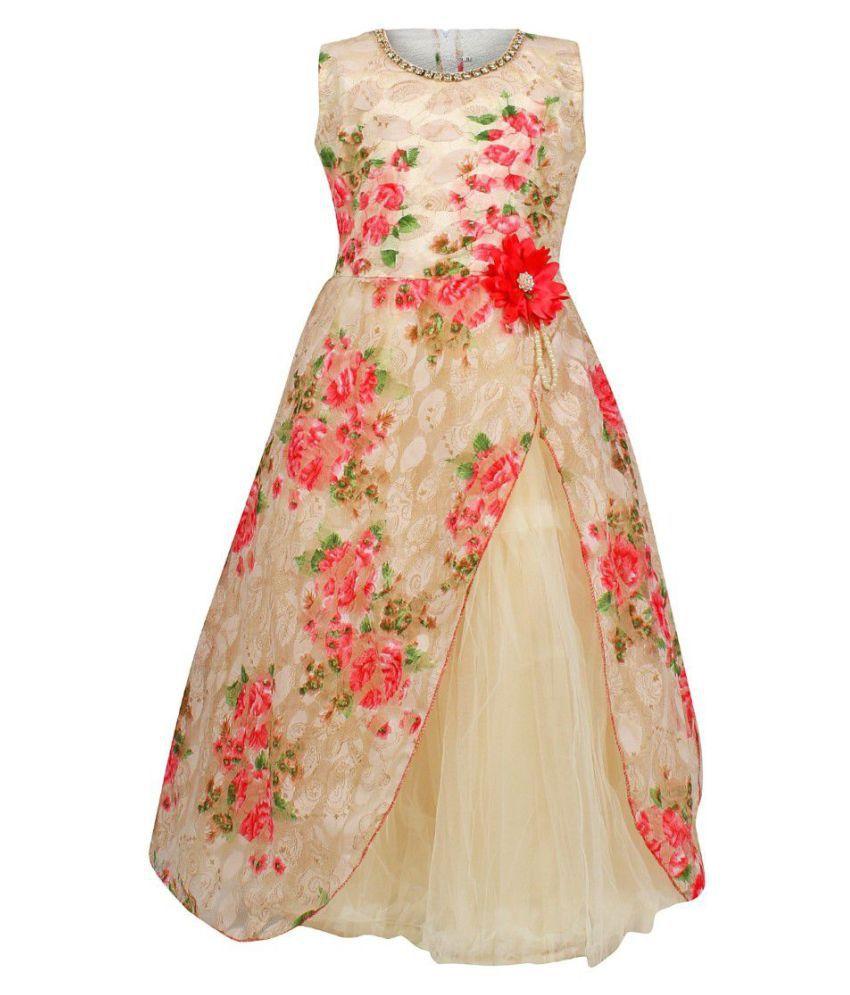 f6ae948845b4 Arshia Fashions Girls Party Wear Frcok Dress- 7 - 8 Years - Buy ...