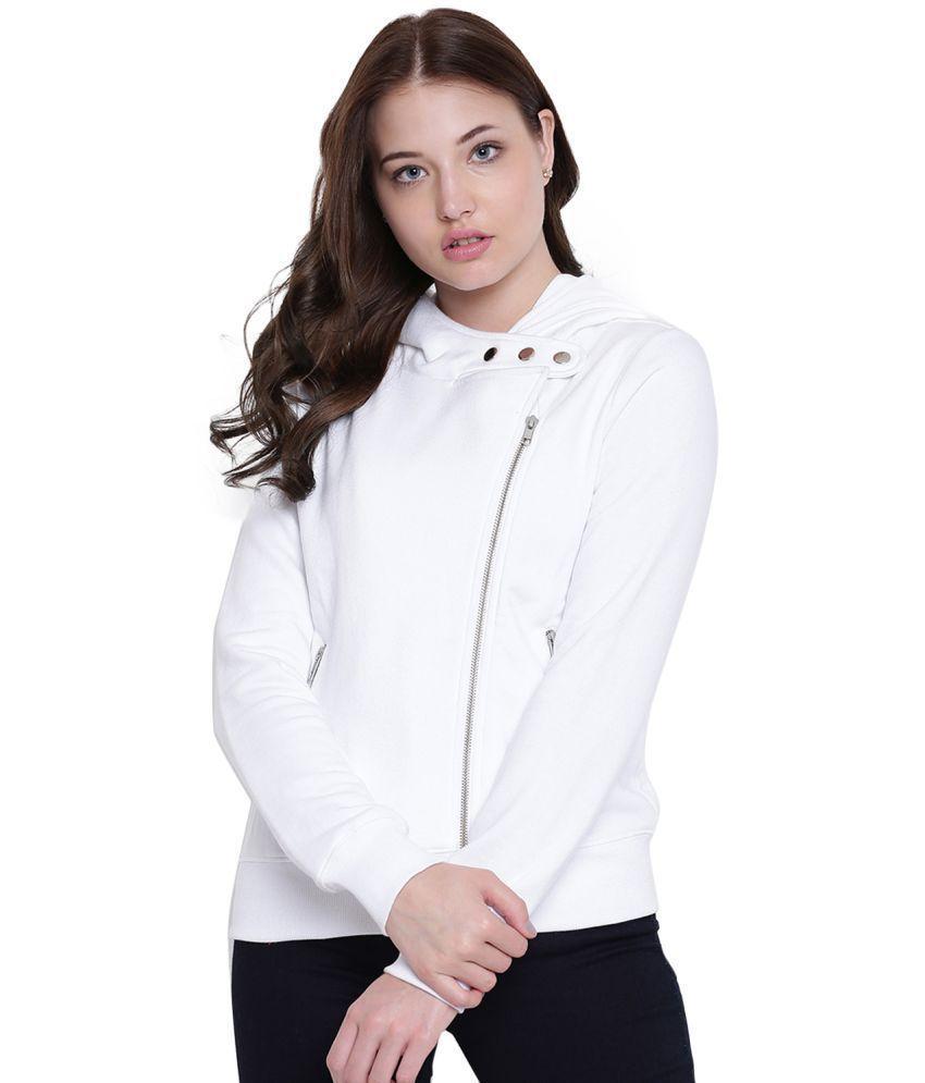 Texco Fleece White Hooded Jackets