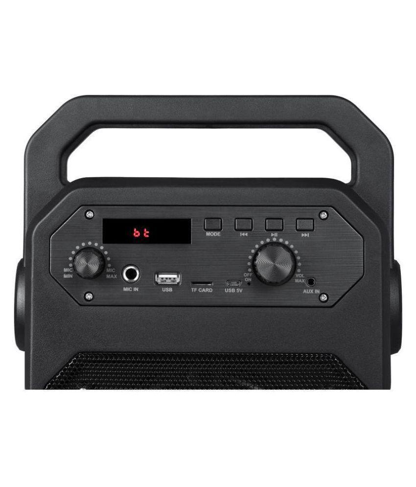 ... Zoook Rocker Thunder 20 watts Bluetooth Speaker with Karaoke Mic /TF/FM/LED ...