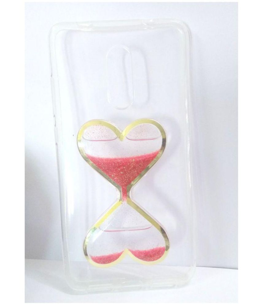 Xiaomi RedMi 4X Printed Cover By lite life heart design with sand moving like sand watch