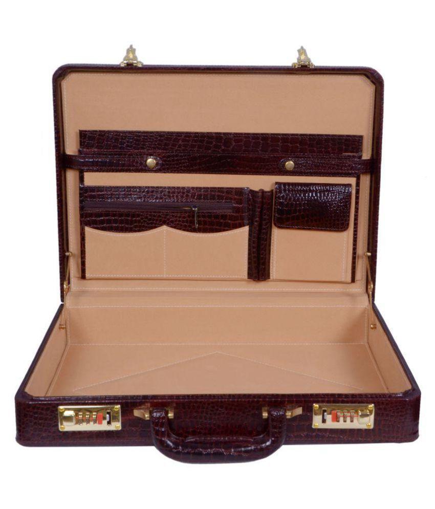 Zint Brown Medium Briefcase