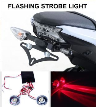 Bike LED Strobe Warning Light, Flashing  Red    Set of 4
