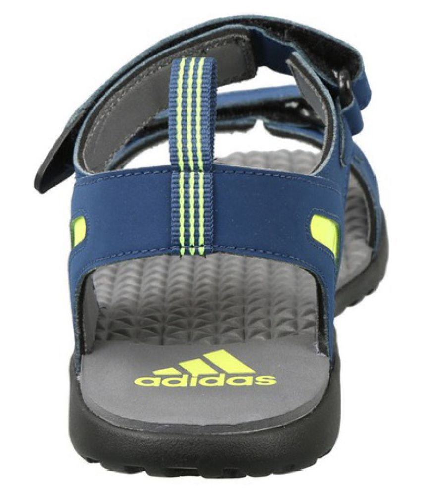 4ec57cf7ff52 Adidas Mobe Blue Faux Leather Sandals Price in India- Buy Adidas ...