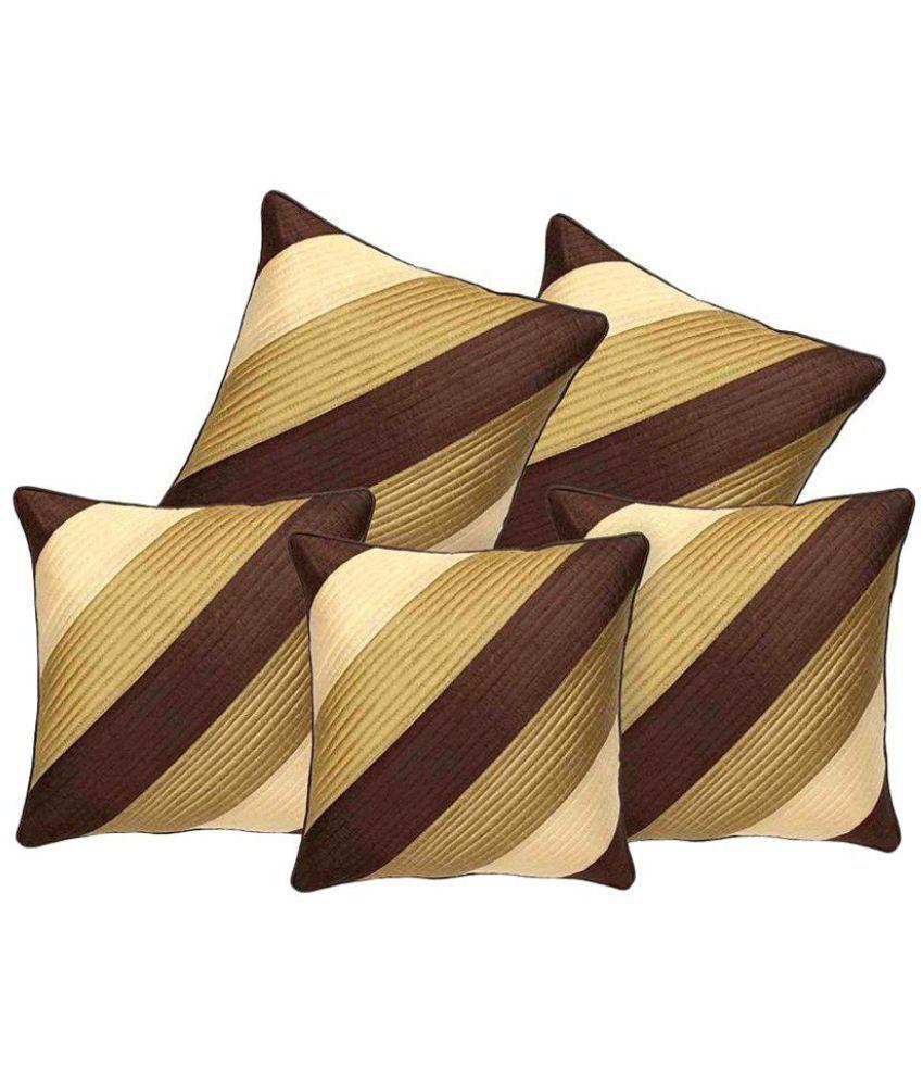 Cushion Shop Set of 5 Poly Cotton Cushion Covers 40X40 cm (16X16)