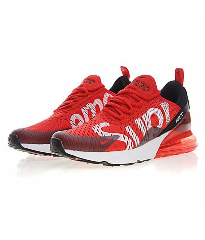 Nike Air Max 270 Supreme Edition Red Running Shoes