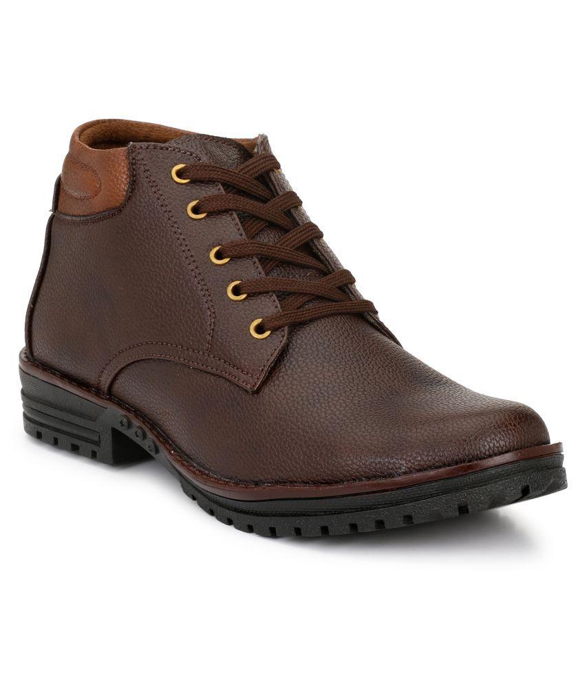 DERBY KICKS Brown Casual Boot
