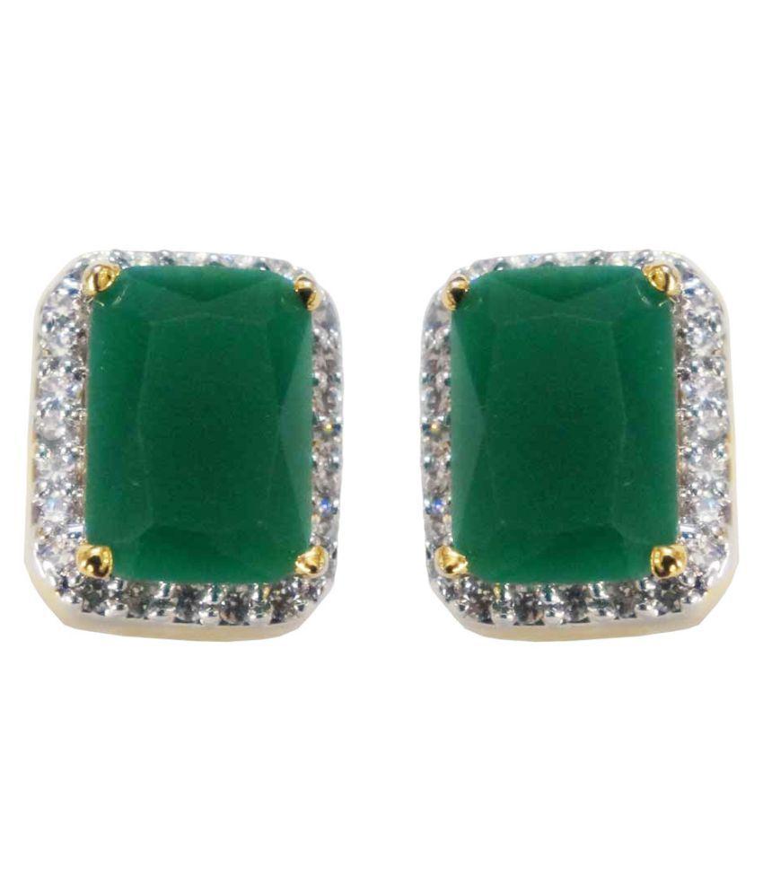 Emerald Green Studs