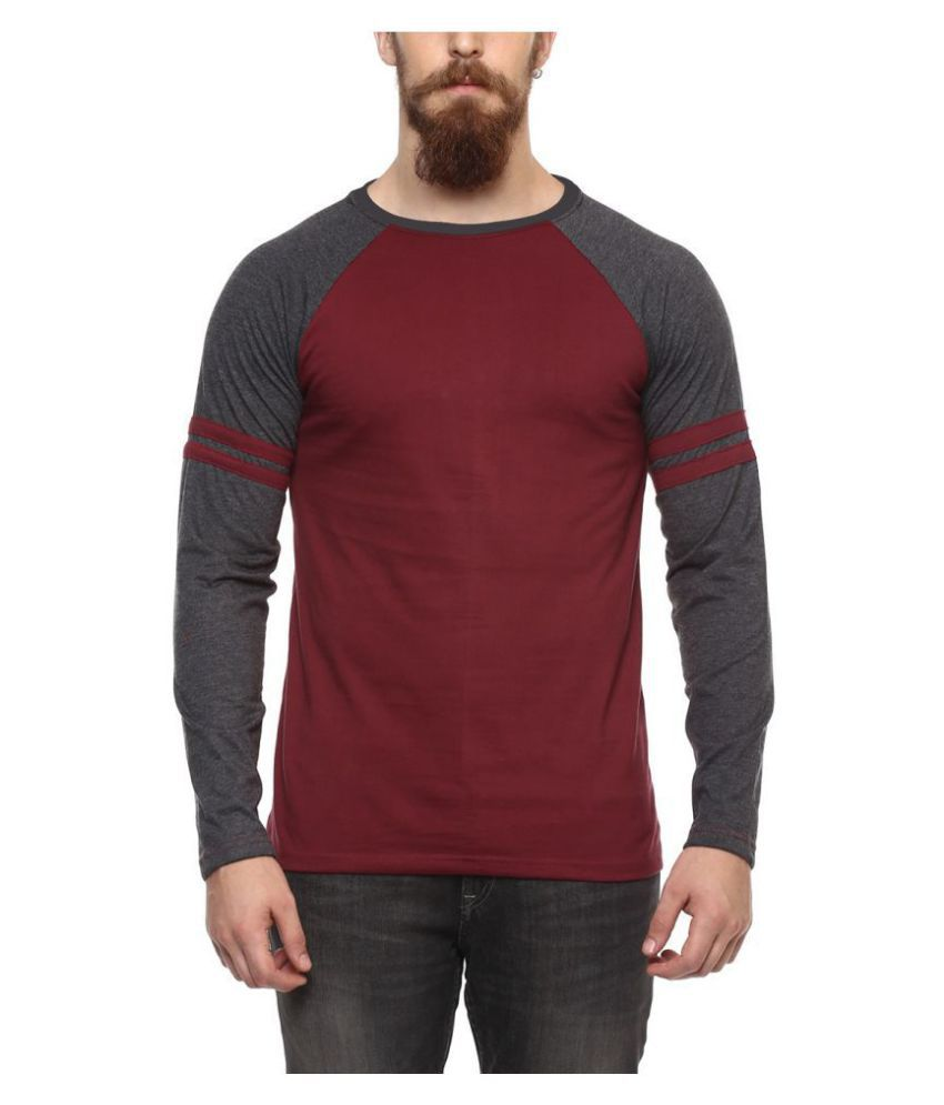 Veirdo Maroon Full Sleeve T-Shirt
