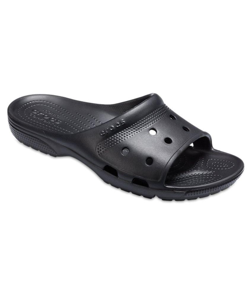 Crocs Coast Black Boys Slide