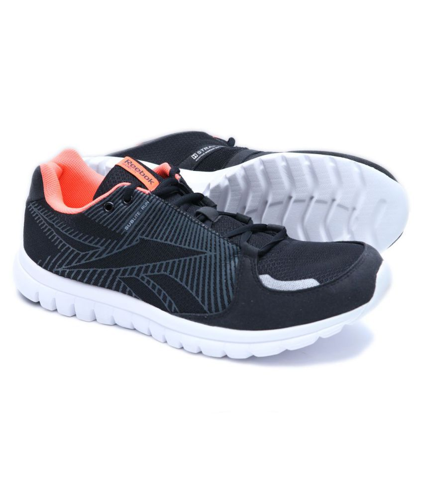 886204bc817 Reebok Sublite Run J90472 Black Running Shoes - Buy Reebok Sublite Run  J90472 Black Running Shoes Online at Best Prices in India on Snapdeal