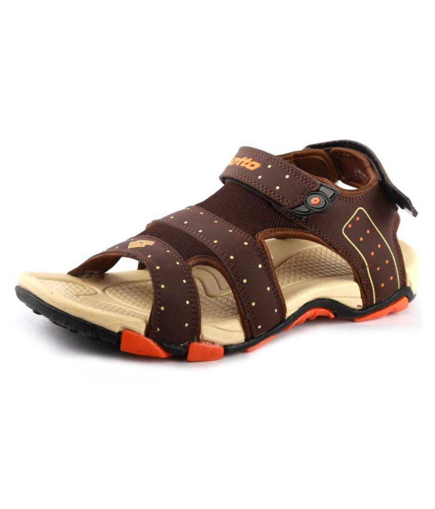 8a424cd0a Lotto Men s Brown Synthetic Floater Sandals - Buy Lotto Men s Brown  Synthetic Floater Sandals Online at Best Prices in India on Snapdeal