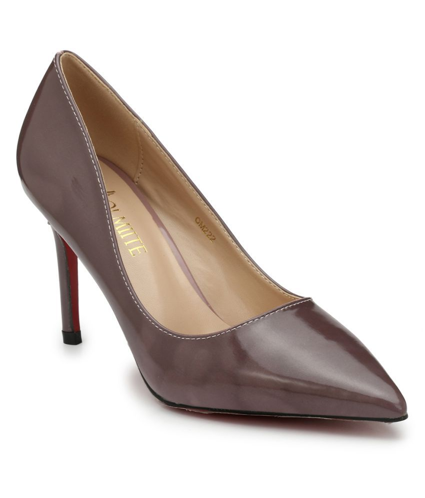 OLMIITE Brown Stiletto Heels