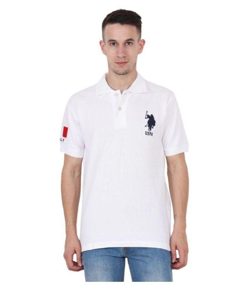 Us Polo Club White Regular Fit Polo T Shirt Buy Us Polo Club White