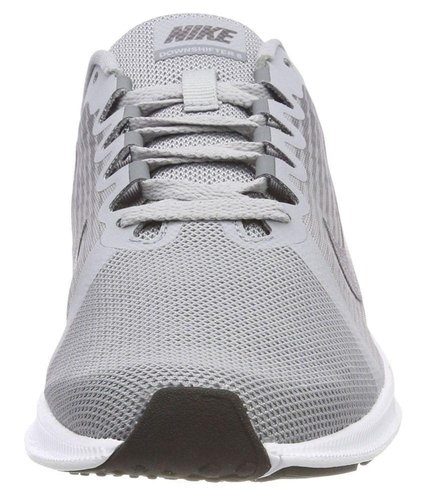 7de04e436b9 Nike DOWNSHIFTER 8 Grey Running Shoes - Buy Nike DOWNSHIFTER 8 Grey ...