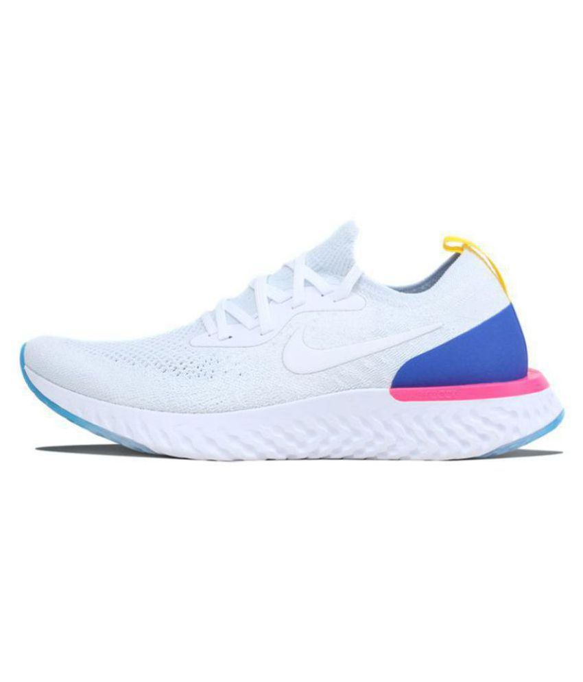quality design f0074 9d546 Nike LUNAR EPIC REACT White Running Shoes