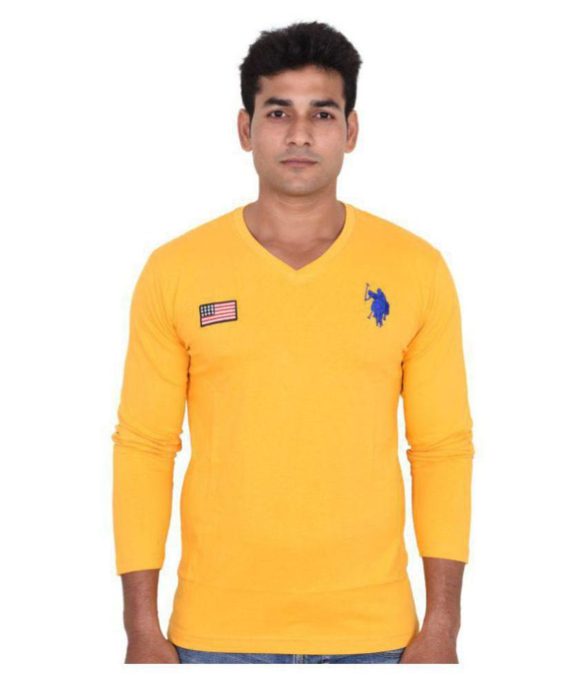 U.S. Polo Assn. Yellow Full Sleeve T-Shirt