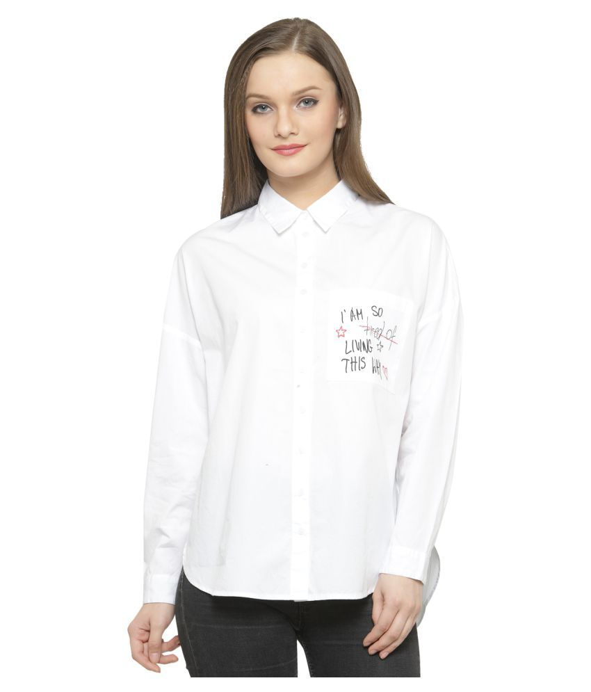 Silly People Cotton Blend Shirt