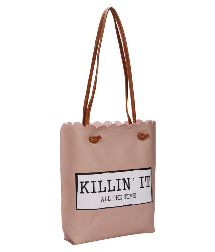 Bagkok Pink P.U. Tote Bag