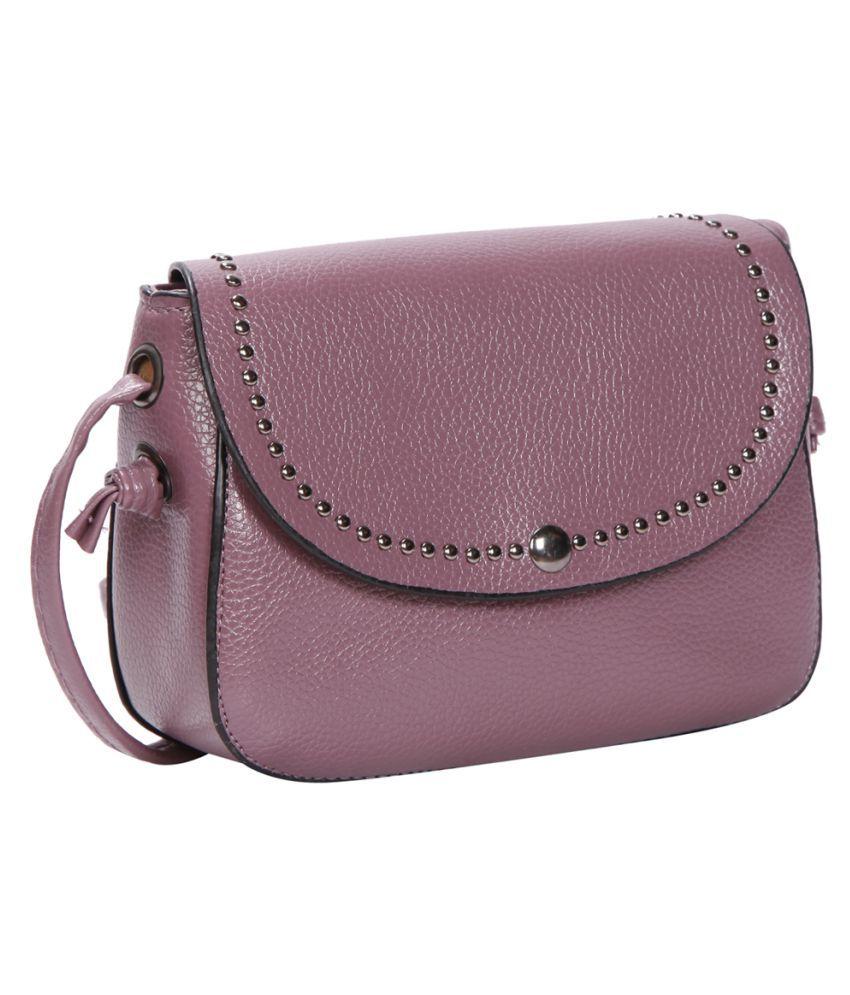 Bagkok Purple P.U. Sling Bag