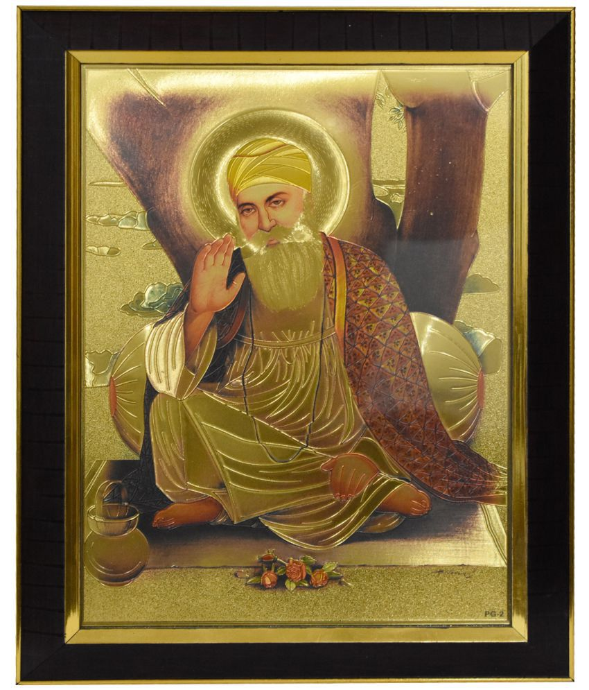 Gallery99 Golden Plated Canvas Painting With Frame