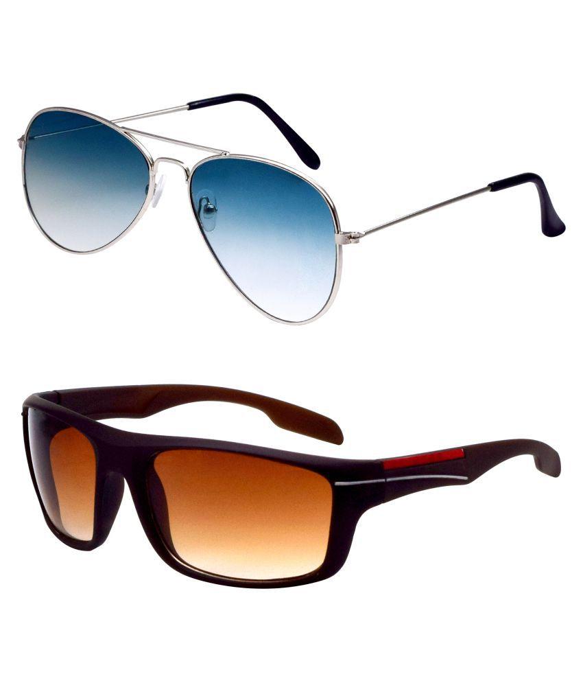 ocnik Multicolor Aviator Sunglasses ( Ocnik407-1109 )