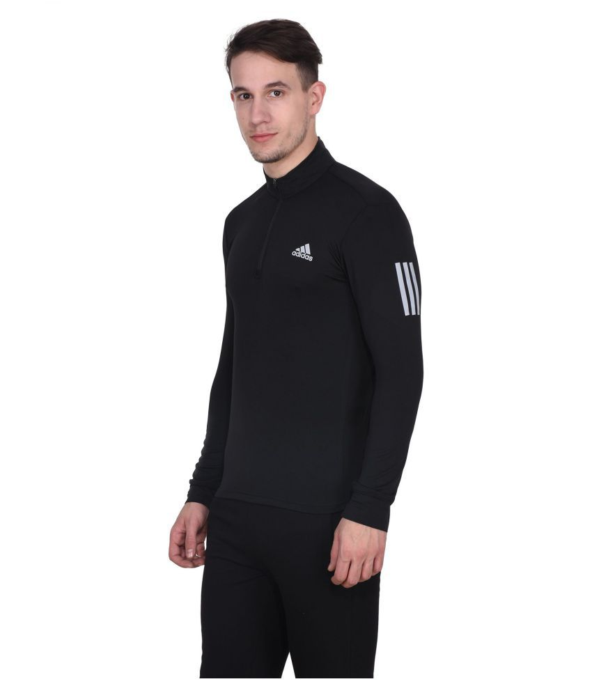 Adidas Black Full Sleeve T-Shirt