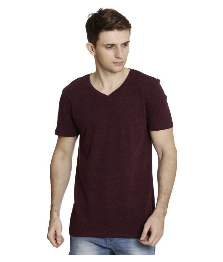 United Colors of Benetton Red Half Sleeve T-Shirt