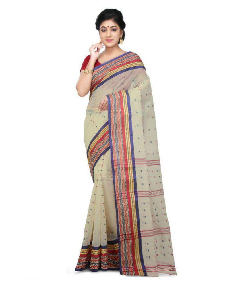 Wooden Tant Multicoloured Cotton Saree