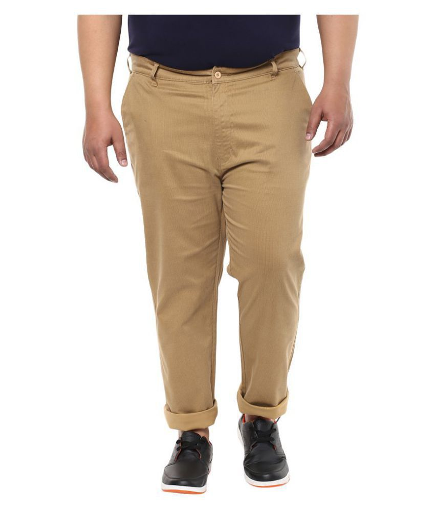 John Pride Khaki Slim -Fit Flat Chinos